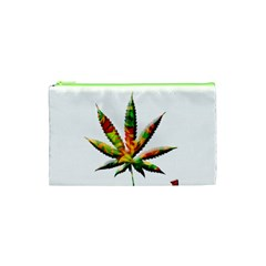 Marijuana Leaf Bright Graphic Cosmetic Bag (xs) by Simbadda