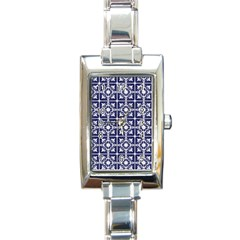 Leaves Horizontal Grey Urban Rectangle Italian Charm Watch by Simbadda