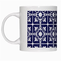 Leaves Horizontal Grey Urban White Mugs by Simbadda