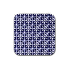 Leaves Horizontal Grey Urban Rubber Square Coaster (4 Pack)  by Simbadda