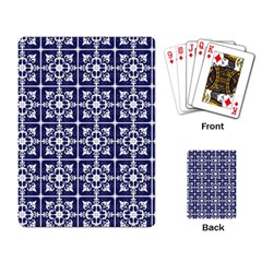 Leaves Horizontal Grey Urban Playing Card by Simbadda