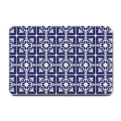 Leaves Horizontal Grey Urban Small Doormat  by Simbadda