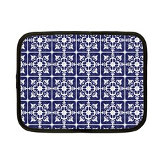 Leaves Horizontal Grey Urban Netbook Case (small)  by Simbadda