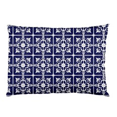 Leaves Horizontal Grey Urban Pillow Case (two Sides) by Simbadda