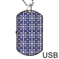 Leaves Horizontal Grey Urban Dog Tag Usb Flash (one Side) by Simbadda