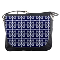 Leaves Horizontal Grey Urban Messenger Bags by Simbadda