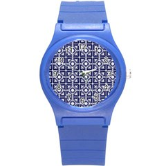 Leaves Horizontal Grey Urban Round Plastic Sport Watch (s) by Simbadda