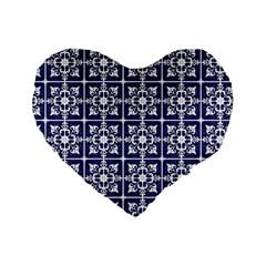 Leaves Horizontal Grey Urban Standard 16  Premium Flano Heart Shape Cushions by Simbadda