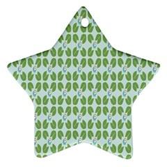 Leaf Flower Floral Green Ornament (star) by Alisyart