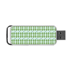 Leaf Flower Floral Green Portable Usb Flash (one Side) by Alisyart