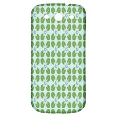 Leaf Flower Floral Green Samsung Galaxy S3 S Iii Classic Hardshell Back Case by Alisyart