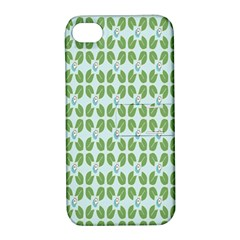 Leaf Flower Floral Green Apple Iphone 4/4s Hardshell Case With Stand by Alisyart