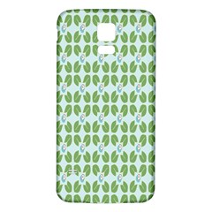 Leaf Flower Floral Green Samsung Galaxy S5 Back Case (white) by Alisyart