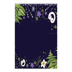 Spring Wind Flower Floral Leaf Star Purple Green Frame Shower Curtain 48  X 72  (small)  by Alisyart
