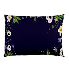 Spring Wind Flower Floral Leaf Star Purple Green Frame Pillow Case (two Sides) by Alisyart