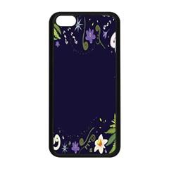 Spring Wind Flower Floral Leaf Star Purple Green Frame Apple Iphone 5c Seamless Case (black) by Alisyart