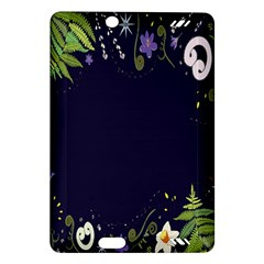 Spring Wind Flower Floral Leaf Star Purple Green Frame Amazon Kindle Fire Hd (2013) Hardshell Case by Alisyart