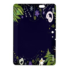Spring Wind Flower Floral Leaf Star Purple Green Frame Kindle Fire Hdx 8 9  Hardshell Case by Alisyart