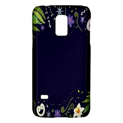 Spring Wind Flower Floral Leaf Star Purple Green Frame Galaxy S5 Mini by Alisyart