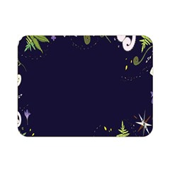 Spring Wind Flower Floral Leaf Star Purple Green Frame Double Sided Flano Blanket (mini)  by Alisyart
