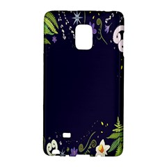 Spring Wind Flower Floral Leaf Star Purple Green Frame Galaxy Note Edge by Alisyart