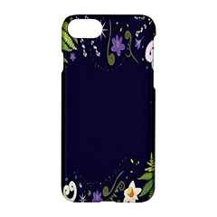 Spring Wind Flower Floral Leaf Star Purple Green Frame Apple Iphone 7 Hardshell Case by Alisyart