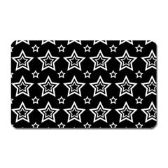 Star Black White Line Space Magnet (rectangular) by Alisyart
