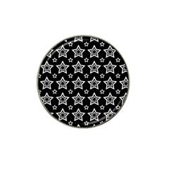 Star Black White Line Space Hat Clip Ball Marker (4 Pack) by Alisyart