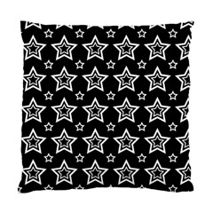 Star Black White Line Space Standard Cushion Case (two Sides) by Alisyart