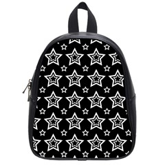 Star Black White Line Space School Bags (small)  by Alisyart