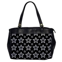 Star Black White Line Space Office Handbags by Alisyart