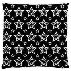 Star Black White Line Space Large Cushion Case (one Side) by Alisyart