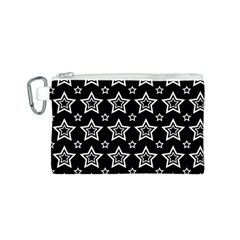 Star Black White Line Space Canvas Cosmetic Bag (s) by Alisyart