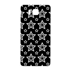 Star Black White Line Space Samsung Galaxy Alpha Hardshell Back Case by Alisyart