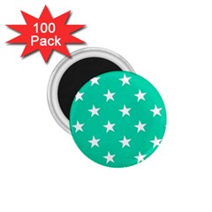 Star Pattern Paper Green 1 75  Magnets (100 Pack)  by Alisyart