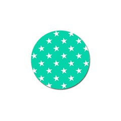 Star Pattern Paper Green Golf Ball Marker (10 Pack) by Alisyart