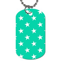 Star Pattern Paper Green Dog Tag (two Sides) by Alisyart