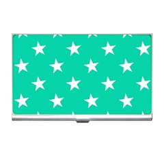 Star Pattern Paper Green Business Card Holders by Alisyart