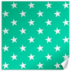 Star Pattern Paper Green Canvas 16  X 16   by Alisyart