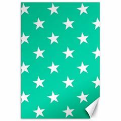 Star Pattern Paper Green Canvas 20  X 30   by Alisyart