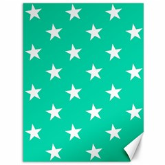 Star Pattern Paper Green Canvas 36  X 48   by Alisyart