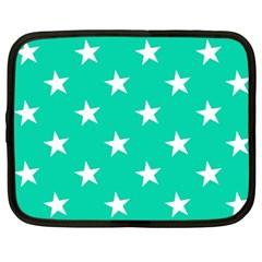 Star Pattern Paper Green Netbook Case (xxl)  by Alisyart