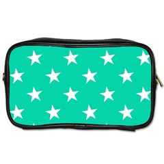 Star Pattern Paper Green Toiletries Bags by Alisyart