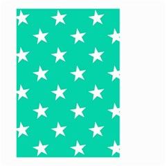Star Pattern Paper Green Small Garden Flag (two Sides) by Alisyart