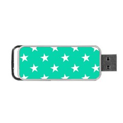 Star Pattern Paper Green Portable Usb Flash (one Side) by Alisyart