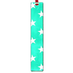 Star Pattern Paper Green Large Book Marks by Alisyart