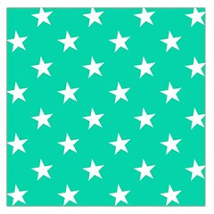 Star Pattern Paper Green Large Satin Scarf (square) by Alisyart