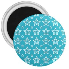 Star Blue White Line Space Sky 3  Magnets by Alisyart