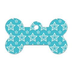 Star Blue White Line Space Sky Dog Tag Bone (two Sides) by Alisyart