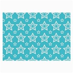 Star Blue White Line Space Sky Large Glasses Cloth by Alisyart